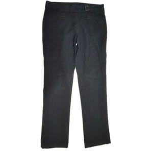 Theory 6 Small Black Belted Dress Slacks Pants k6